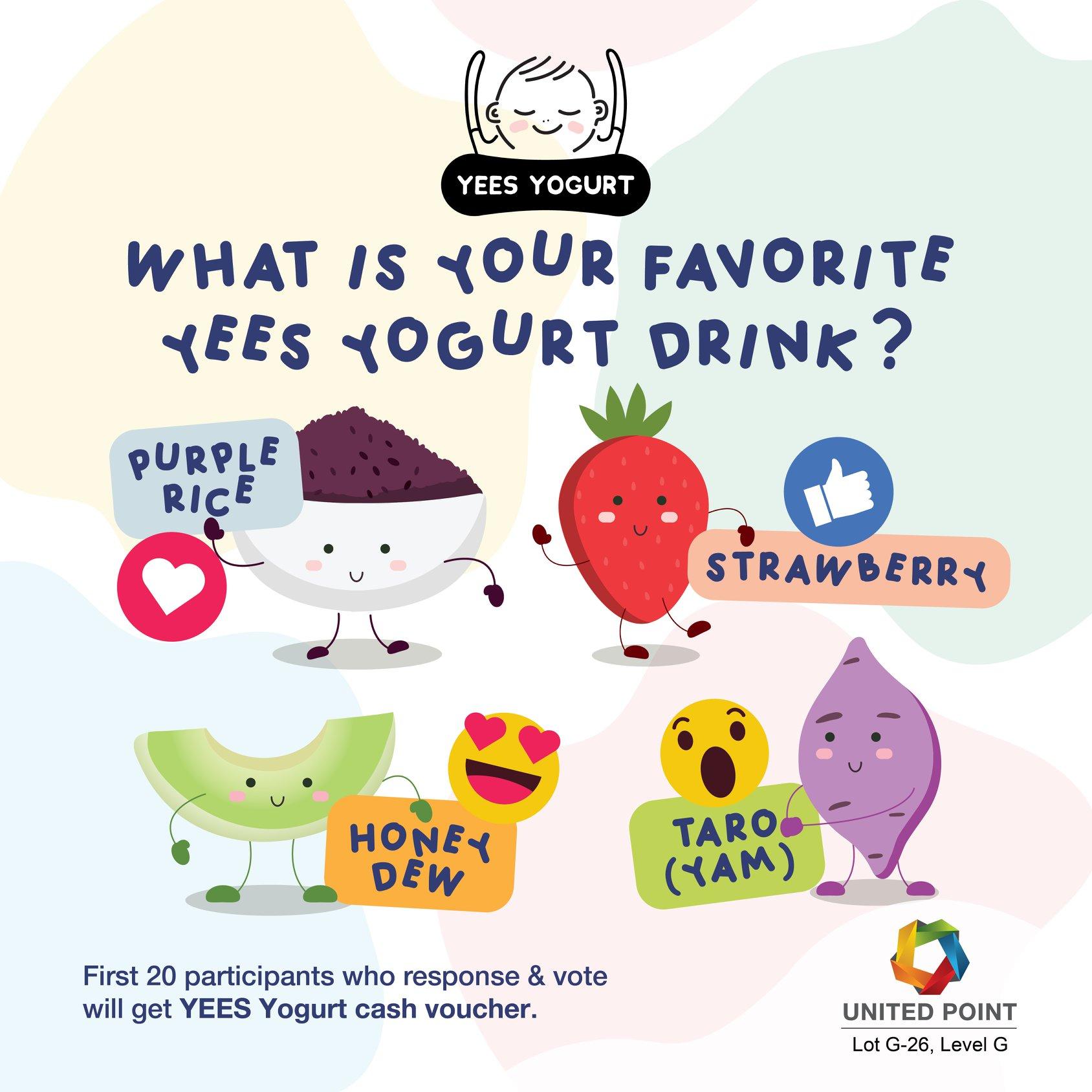 Emoji Reaction @ YEES Yogurt